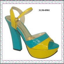New Design China Brand Wholesale Summer High Heel Sandals Shoes