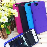 Creative Kickstand Case Cover For iPhone 6, Credit Card Holder Cover Case For iPhone 6