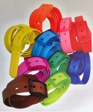 New Rubber Vinyl Plastic Jelly Silicone Rubber Belt Buckle Adjustable