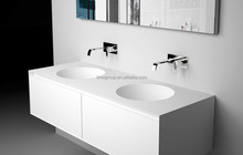 Commercial use italian stone resin commercial bathroom sink countertop