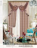 special design jacquard window curtain with fancy valance