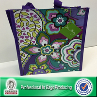 Lead Free PP Woven Laminated Flower Reusable Shopping Bag
