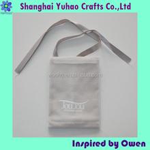 Personalized velvet jewelry pouches ribbon drawstring