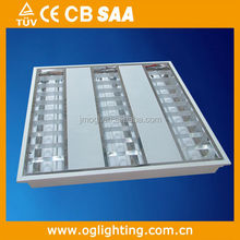 3 years warranty led louver light frixture for canteen 3x20W