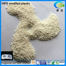 Injection and extrusion high impact polystyrene flame-retardant HIPS pellets toughened