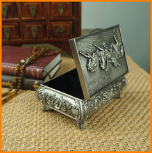 Continental carved wedding gifts metal crafts zinc alloy metal jewelry box princess 12266MK