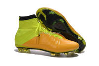 2016 Newest Hot Sale Football Shoes Factory Breatheable Soccer Boots High Ankle Name Brand Soccer Cleats