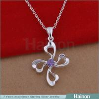 2015 Yiwu Factory Mix order fashion plant clover pendant necklace jewelry