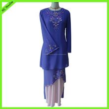 Embroidered latest abaya designs wholesale chiffon clothing