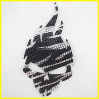 Skull Design Resin Material Rhinestone Iron on Applique Garment Accessories