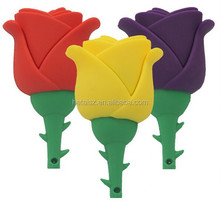 Best Festival gifts New style Lovely Rose Shape usb flash drive Full Genuine 8GB usb pendrive/thumbdrive/U disk