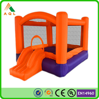 Bright color samll inflatable bouncer baby, bouncing castle for children game