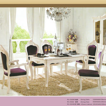 Dining room furniture rubber wooden France/Italian design