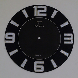 Factory offer printing embossed foil clock picture