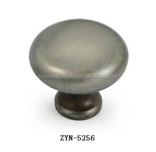 Vintage round shape zinc alloy antique drawer knob for antique furniture