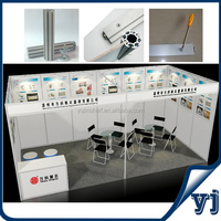 Wholesale 6x3 big exhibition booth stand/ exhibition stall/ exhibits stall with new custom design