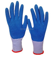 BSSAFETY Red latex coated cotton knitted cheap hand gloves boxing gloves for dubai importers