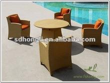 Aluminum plastic round table set HLWDS038
