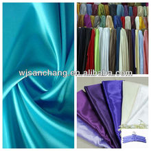 2016 poly satin fabric for the lining of garment and bag or decoration