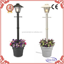 Super brightness LED solar garden lighting pole light with unique design for sale