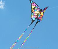 child flying kite