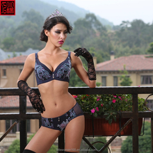 sexy young lady underwear blue color nice design nylon spandex panties for women
