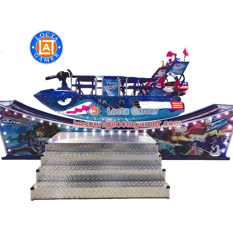 Zhongshan парк аттракционов летающий автомобиль акула опистолет тематический парк стекловолокна 7 мест