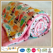 China wholesale soft comfortable printed blanket baby blanket minky dot