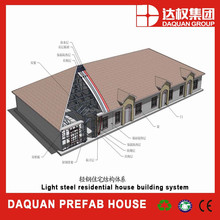 light steel structure prefab house building system