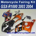 GSXR1000 2003 2004 ORANGE AND BLACK Carenados de fábrica para las motocicletas