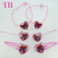 2015 hot style fashion pink butterfly diy asian hair accessories for girls