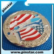 USA air force custom made round enamel gold metal coin