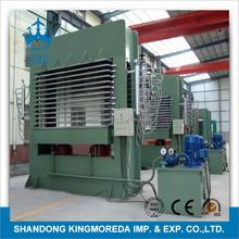 KMD 2015 mdf plywood hydraulic hot press machine laminating