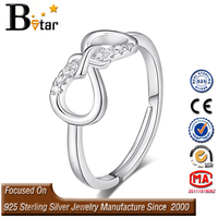 Lovely fashion 925 sterling silver bow ring