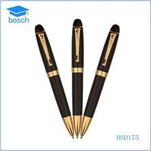 Gold color metal pen printed pens metal luxury metal ballpoint pen