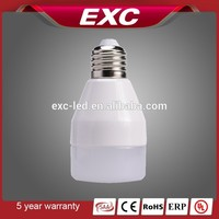 led full plastic energy saving small bulb light 3w/5w/7w warm white color temperature
