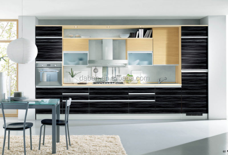 China black color modern lacquer kitchen cabinets for Ready made kitchen units