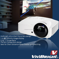 Vivibright PRW820UST Best ultra short throw projector 4500 lumens full hd projector with 0.32: 1 throw ratio