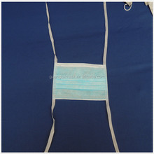 3-ply disposable filter face mask with tie on for dental / surgical applications