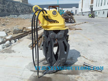 hydraulic excavator wood/stone grapple