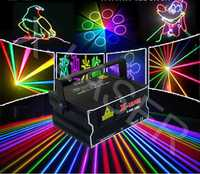 2w RGB full color laser 2d beam animation light 3d effects stage disco bar club dj party laser