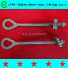 2015 Hebei Weichuang high quality hot dip galvanized forged eye bolt can be customized power fasteners