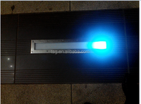 glass shade for blister lamp with whit printing