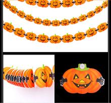 Orange pumpkins paper garlands hanging for import holloween items