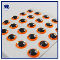 Wholesale soft plastic fishing lures eyes with Fluorescent Orange Color,3d eyes for fishing lures