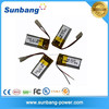 rechargable mp3 players with long battery life lipo battery 3.7v 100mah