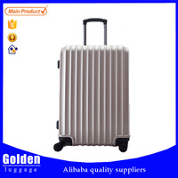 The best price,carry-on type, External caster,lightweight zipper hard-shell ABS 3pcs luggage set