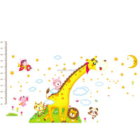 AY235 Giraffe Cartoon Wall Stickers For Kids Room DIY Home Decorations Wall Decals