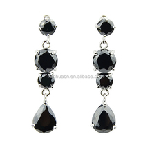 New coming 18K platinum Plated and imitation crystal long hanging stud earrings