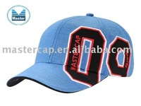 Golf Cap with Applique Colth Patch and Flat Embroidery